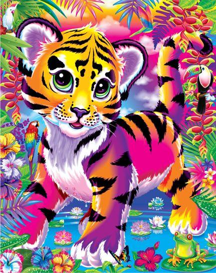 Lisa Frank Forrest the Tiger Cub Postcard Tropical