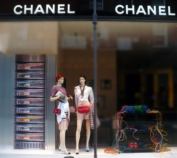 Chanel window display in Brown Thomas, Grafton Street