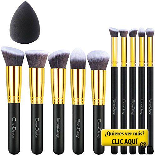 EmaxDesign - Juego de brochas de maquillaje kabuki... #maquillaje