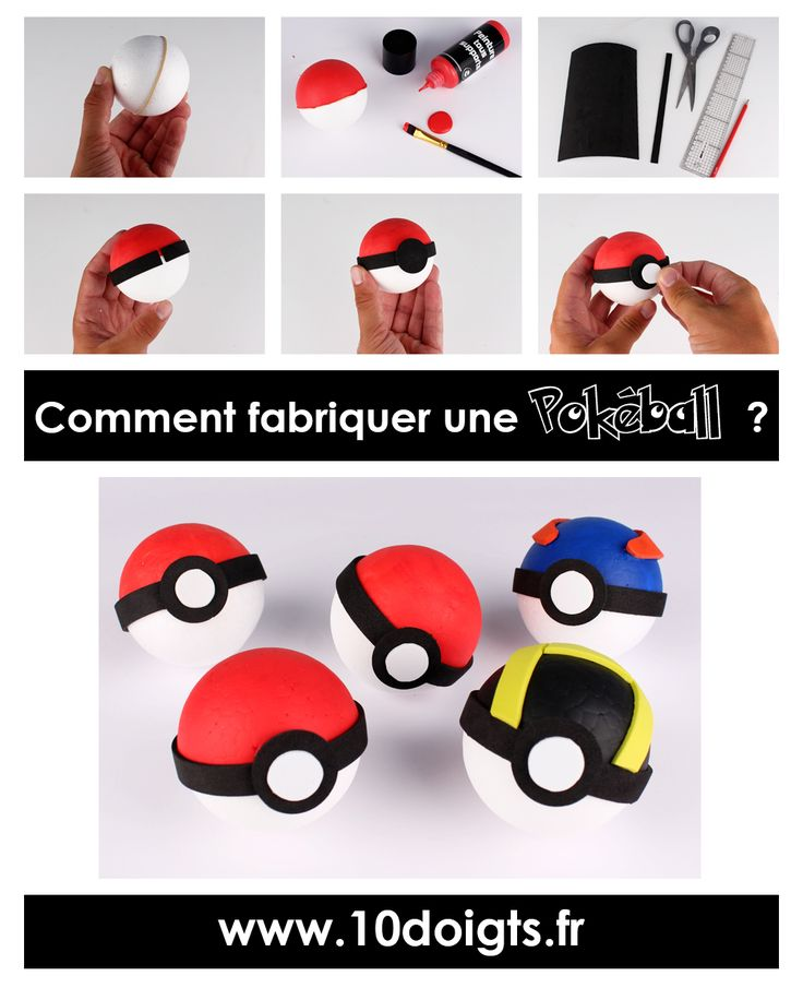 Tutoriel : Comment fabriquer une Pokéball ?  #DIY #Pokeball # Pokemon #PokemonGo