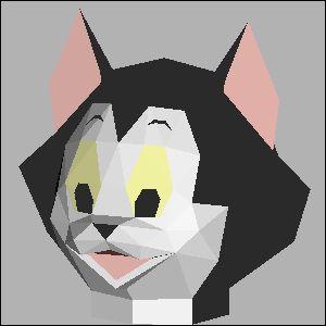 フィガロの展開図 似顔絵 無料 ダウンロード ペーパークラフトファン