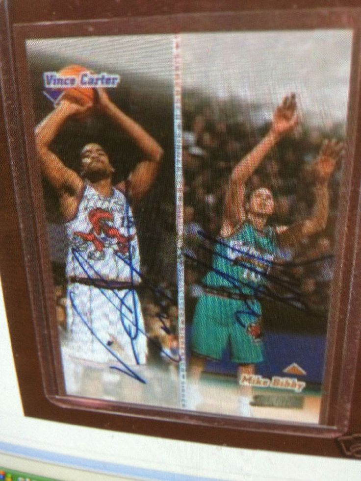 VINCE CARTER MIKE BIBBY 99 STADIUM CO-SIGNER RC AUTO MINT FROM PACK