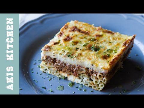 Pastitsio - Aki's Special Baked Pasta Casserole   Akis Petretzikis