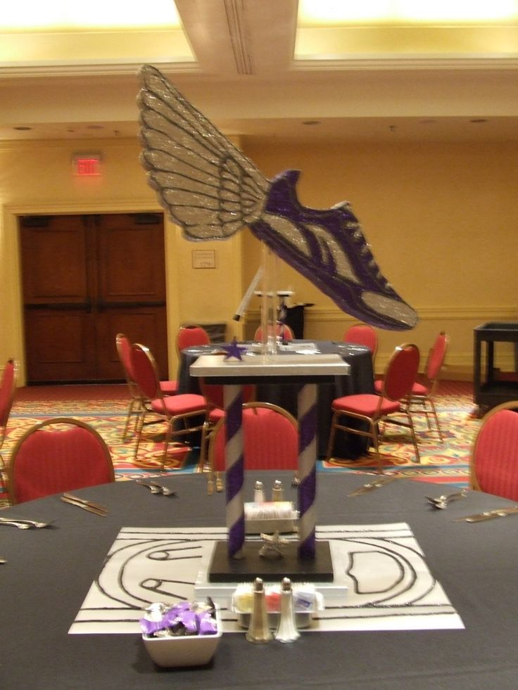 Sports Themed Bar Mitzvah: Track and Field  www.give-em-props-studio.com
