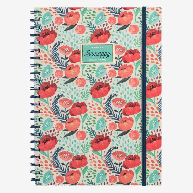 Il quaderno con spirale Be happy è ideale per annotare pensieri, custodire ricordi e prendere appunti. Perfetto in ufficio, a scuola, nel tempo libero. I quaderni A4 a righe Legami, colorano i tuoi giorni con stile