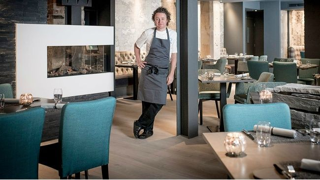 First look inside Tom Kitchin's revamped Leith restaurant: http://edinburgh.stv.tv/articles/307360-edinburgh-michelin-star-restaurant-the-kitchin-revamp-with-chef-tom-kitchin