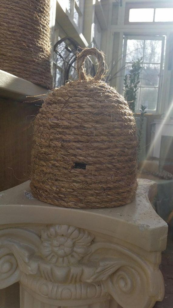 Handmade Bee Skep Apiary Primitive French Style Wedding Garden Nursery Decor
