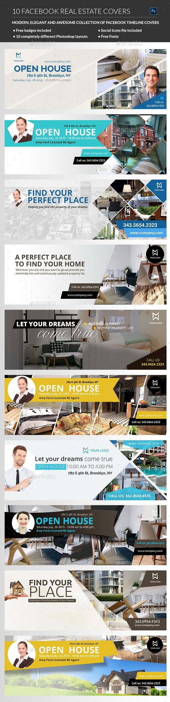 Real Estate Facebook Cover Template PSD. Download here: http://graphicriver.net/item/real-estate-facebook-cover/15405463?ref=ksioks