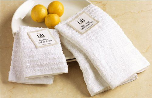 I love cotton bar cloths! These things are indispensable and you'll use less paper towels (i.e., less waste!).