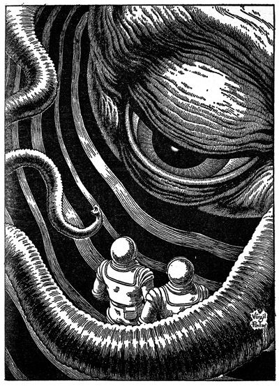 Drawings by Virgil Finlay pulp fantasy, science fiction, horror