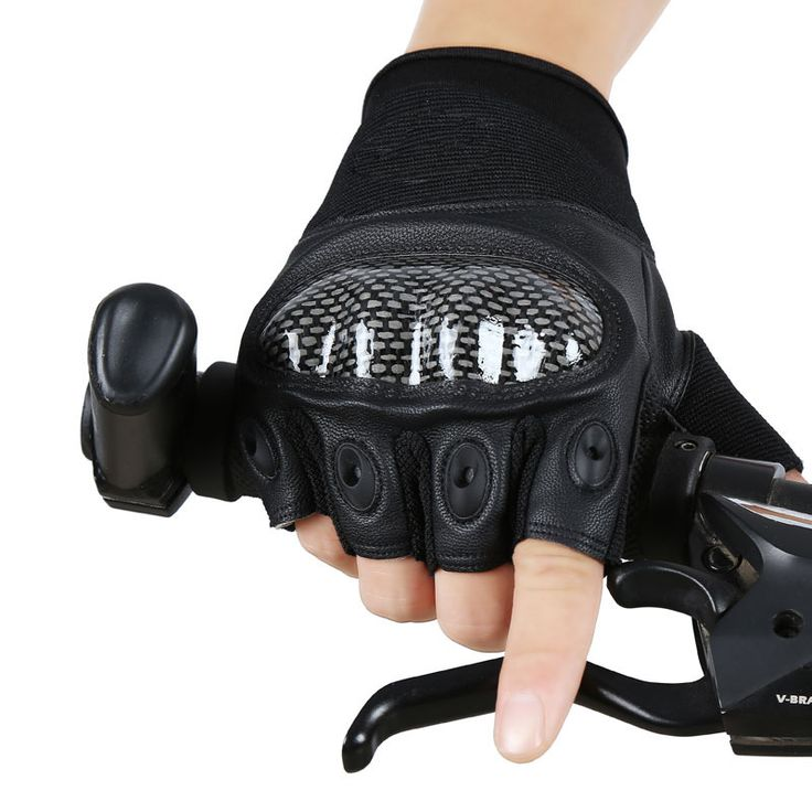 Leather Gloves Promotion 2016 Military Tactical Army Combat Shooting Outdoor Airsoft Bicycle Carbon Hard Knuckle Half Gloves