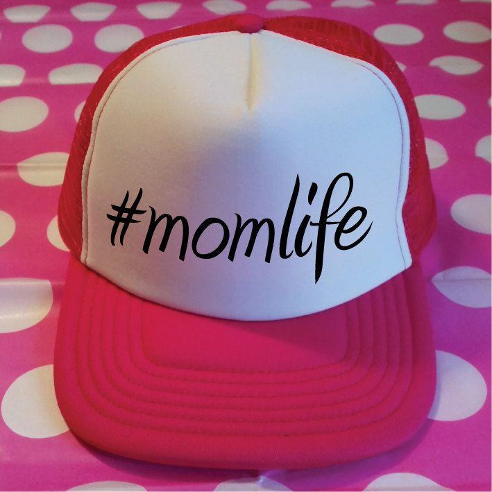 Momlife Trucker Hat. #Momlife Hat. Mom Life Trucker. Mom Life Hat. Snapback. Mommy Hat. Baby Shower Gift. Mom To Be Gift. by SoPinkUK on Etsy