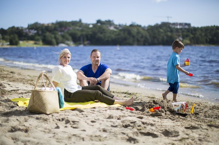 Enjoy a the beach life at Hamre familiecamping at Hamresanden in Kristiansand, Southern Norway.  Photo: Adam Read©Visit Southern Norway