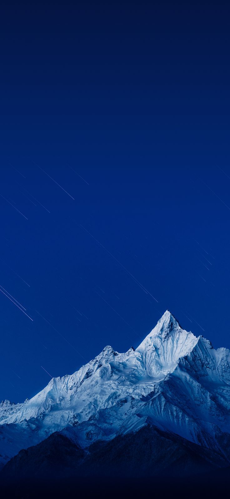 Sky Blue And Snow Mountain Wallpaper Background Sky Blue Mountain Snow Wall 4k Blue Wallpaper Iphone Android Phone Wallpaper Samsung Wallpaper