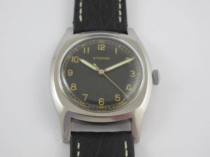 rare all steel super condition mens large size 38mm eterna caliber 852 vintage watch by Bohemianwatchsource on Etsy