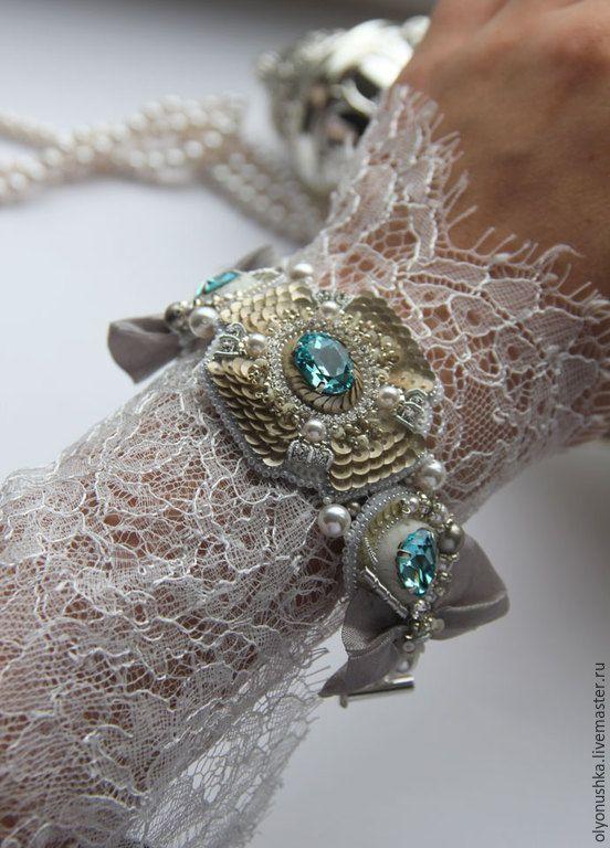 """Купить Браслет """"Aegean Sea.Greece."""" - браслет, винтажные украшения, винтажный браслет"""