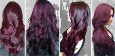 Модные цвета волос Баклажановый