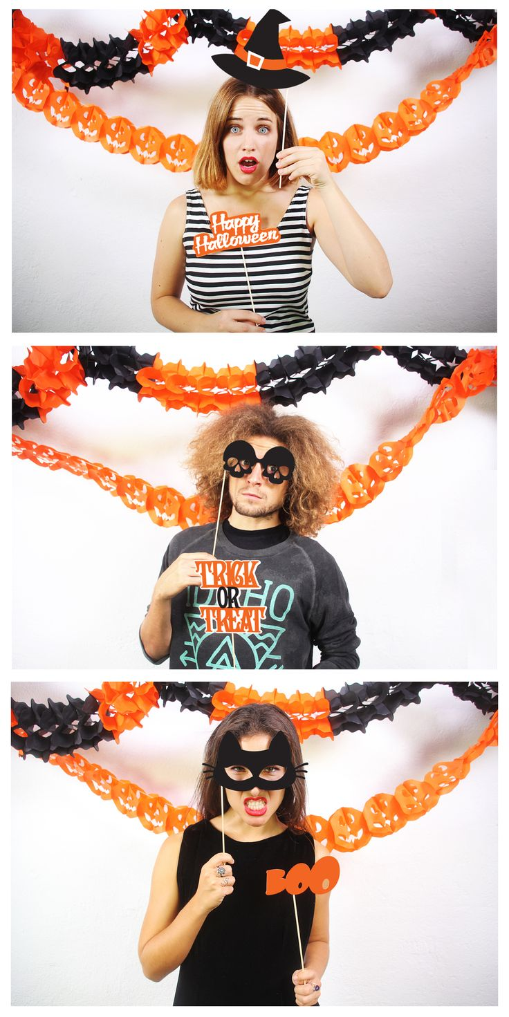 Make the most terrifying Halloween party with our photobooth accesories!!  PHOTOBOOTH HALLOWEEN · http://doiydesign.com/en/products/100-photo-booth-halloween.html   #halloween #witch #spider #pumpkins #party www.geminioctopus.com