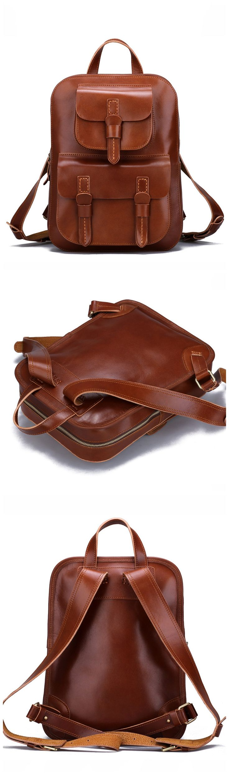 Backpacks for Girls Full Grain Handmade Leather Backpack Cool Backpacks