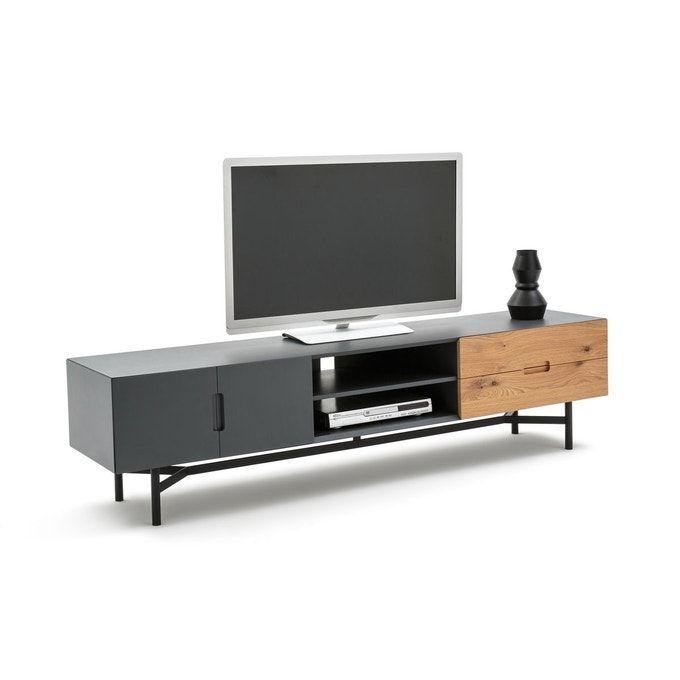Banc Tv Longueur 2 Metres Lora Chene Gris La Redoute Interieurs La Redoute Meuble Tv Meuble Mobilier De Salon