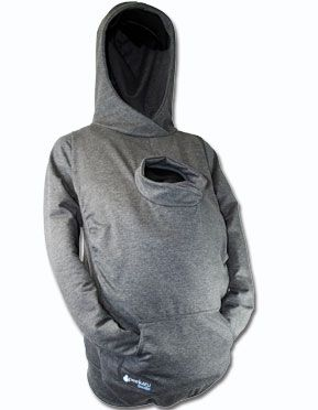 A hoodie for you and baby and no worries about the blanket not covering toes or fingers!!...too awesome!!
