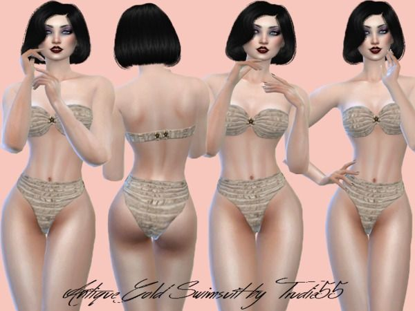 TSR : TrudieOpp's Antique gold swimsuit.
