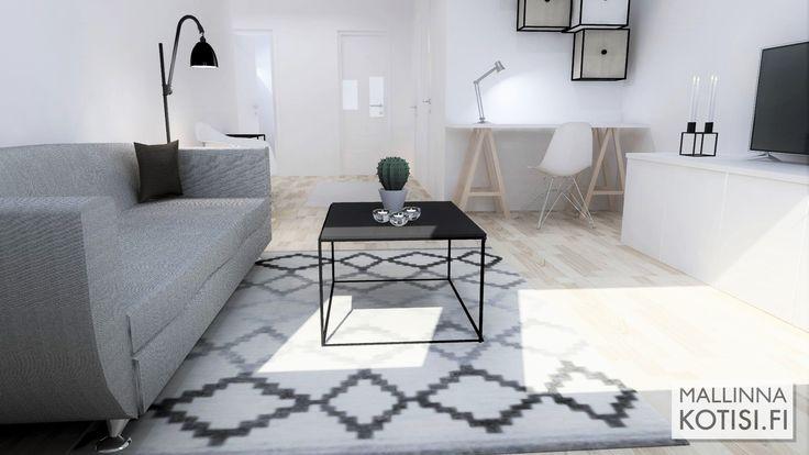 Tyhjän asunnon stailaus virtuaalisesti myyntiä varten