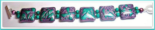 Polymer Clay Mica Shift Bracelet | Flickr - Photo Sharing!
