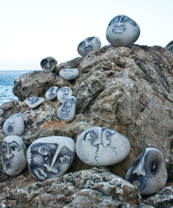 These rock paintings are imaginative and intriguing.