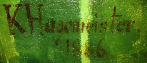 Sammlerstempel / Signatur Karl Hagemeister / geboren: 1848 gestorben: 1933  deutscher Maler der Havelländischen Malerkolonie  #signatur