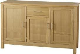 Natural real Oak Veneer 3 door 1 drawer solid Oakleigh Sideboard.  Height: 86cm  Width: 140cm  Depth: 44cm  Only £159.00