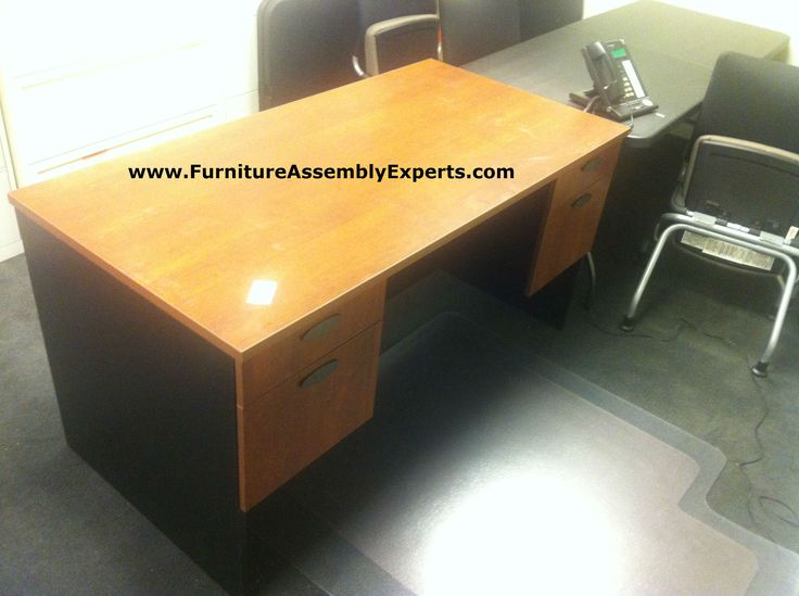 Office Depot Bestar Hampton Executive Desk Assembled In Fairfax Va By  Furniture Assembly Experts LLC