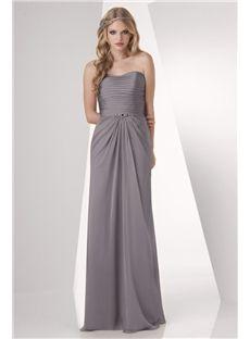 Peek-A-Boo A-line Floor Length Zipper Back Summer Cheap Bridesmaid Dress