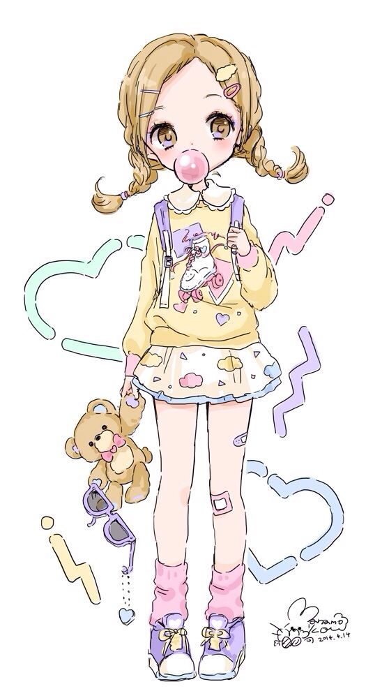 Kawaii little girl #art #illustration #kawaii More