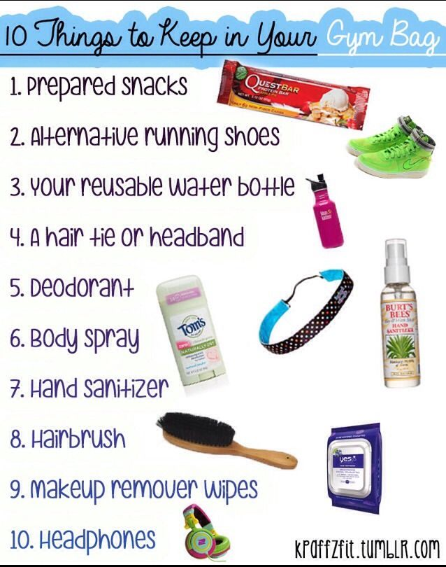 What To Keep In Your Gym Bag #Sports #Trusper #Tip