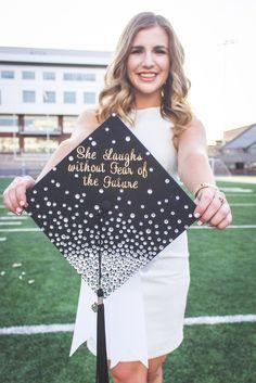 Simple and cute bling grad cap! #graduation #craft #diy