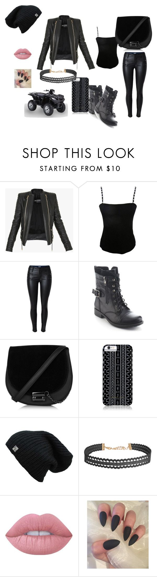 """bike riding"" by dubstepfreak on Polyvore featuring Balmain, Jean Muir, Refresh, Savannah Hayes, Humble Chic and Lime Crime"