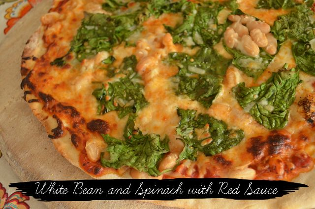 Pizza-WhiteBeanSpinach | Food stuff | Pinterest