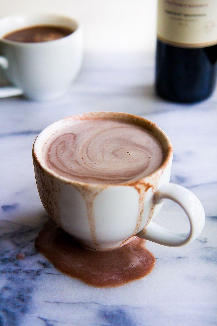 Creamy Red Wine Hot Chocolate   immaEatThat