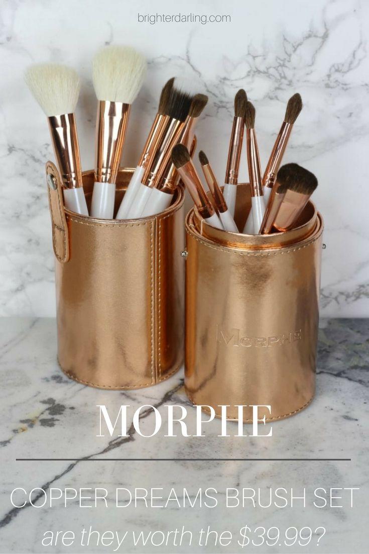 morphe copper dreams brush set review - rose gold makeup brushes