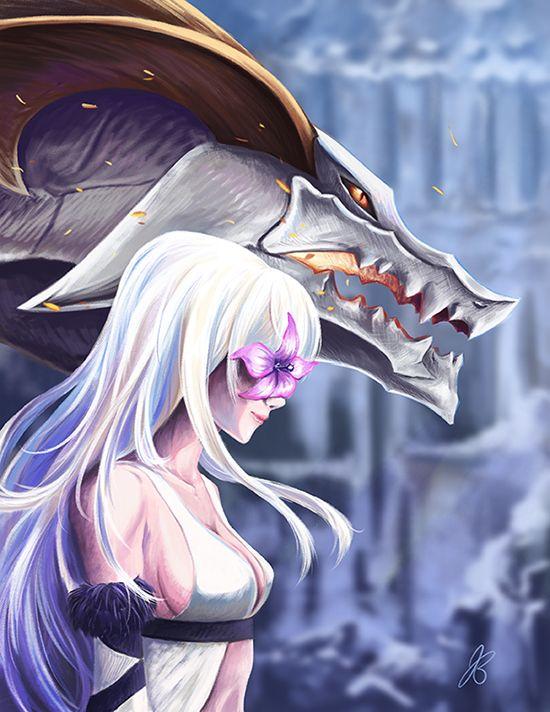 Zero and Mikhail by Jube-Squared Drakengard 3 aka Drag-On Dragoon 3