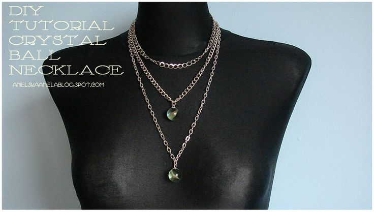 diy tutorial crystal ball necklace...naszyjnik..