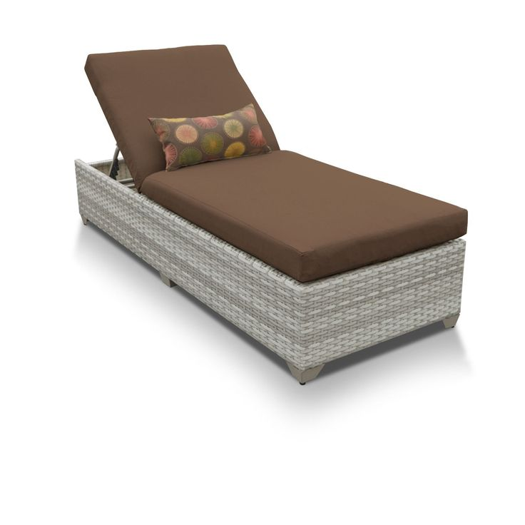 catamaran wicker aluminum outdoor patio chaise lounge cocoa brown patio furniture acrylic