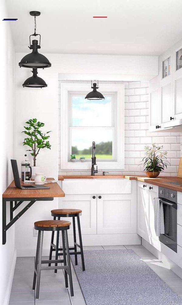 Uber 50 Elegante Designideen Mit Einem Kleinen Kuchentisch Designfurzuhause Der Kleine Kuche In 2020 Small Kitchen Tables Kitchen Design Small Small Space Kitchen