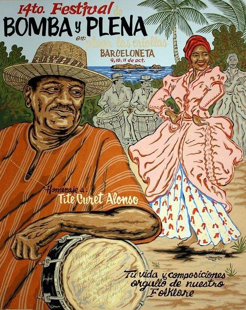 ☀Puerto Rico☀Bomba y Plena ~ Music and dance of old  Puerto Rico