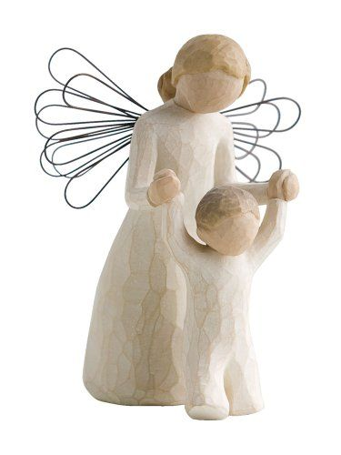 "$12.23-$17.00 Willow Tree Guardian Angel Figurine, Susan Lordi 26034 - Willow Tree Guardian Angel Figurine by Susan Lordi. 5"" high. Resin and metal. Gift boxed. Angel helping a toddler take steps. ""May you always have an Angel to watch over you"" Since 2000, Susan Lordi has been creating these figurative sculptures that speak in quiet ways of deep emotion and inspiration. Artist Susan Lordi carv ..."