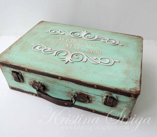 Мастерская Кристины Стриги: Мятный свадебный чемоданчик