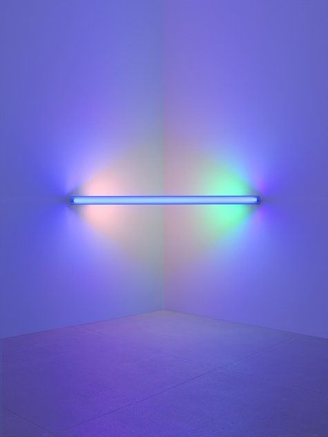 dan flavin. i saw two of his installations in houston once. they're so simple but amazing.