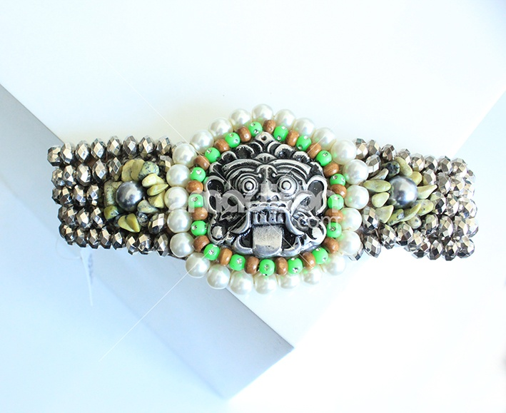 www.2madison.com  Barong Beaded  Designer : Ana Jewelry  Collection : Eclectic Contemporer