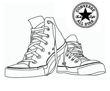 Converse Shoes Coloring Pages